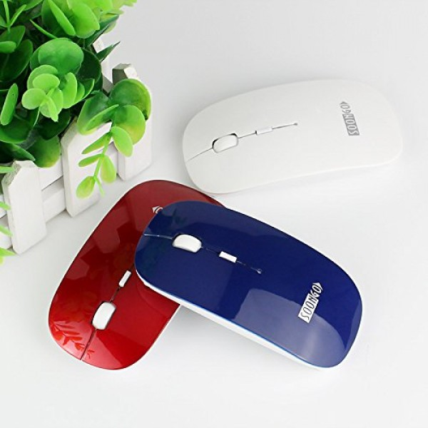 SOON GO 2.4G Wireless Mouse Portable with USB, 4 Buttons, 1600 Adjustable DPI