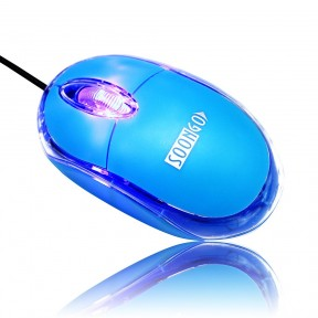 Mini Optical Wired Ergonomic Mouse LED Light Pink Black Blue Computer Notebook Laptop Mice for Children and Lady by SOONGO