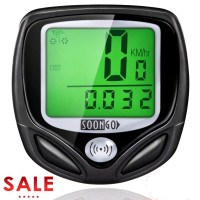 SOON GO Bike Speedometer, Bicycle Speedometer Wireless Bike Computer Waterproof Bike Odometer Speedometer Accurate Speed Tracking & Multi-Function