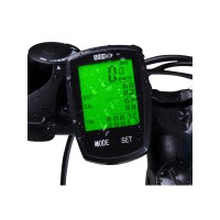 Bicycle Speedometer Wireless Bike Computer Cadence IPX6 Waterproof Bike Odometer Speedometer Multi-Functions with Backlight, Temperature, Bicycle A/B, Stop Watch, Calorie Counter