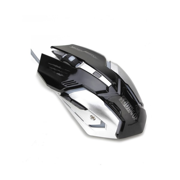Gaming Mouse Professional Adjustable 3200 DPI Precise Sensitivity Optical High-Grade USB Wired Pro Gamer Mouse with 4 Color Breathing Light and Stable Steel